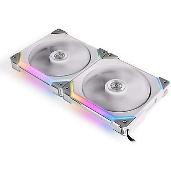 Lian-Li UNI SL140 Addressable RGB White 140mm Fan Dual Pack with Controller