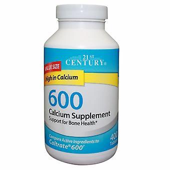 21st Century Calcium Supplement, 600 mg, 400 Tabs