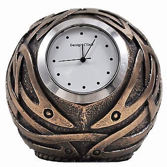 Celtic Design Bronze Ball Shaped Clock