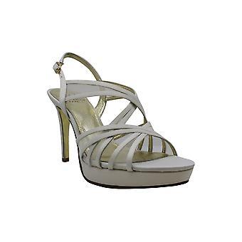 Adrianna Papell Zapatos de Mujer ADRI Satin Open Toe Casual Slingback Sandalias