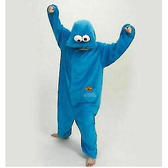 Blue Adult Blue Sesame Street Cookie Elmo Costume(L)