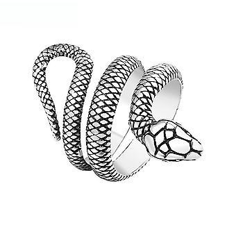 Anel serpant criativo animal dedo de aço de titânio anel para cosplay