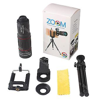 18X teleskooppi zoom matkapuhelimen linssi iphone samsung älypuhelimet yleinen clip telefon kameran linssi jalustalla