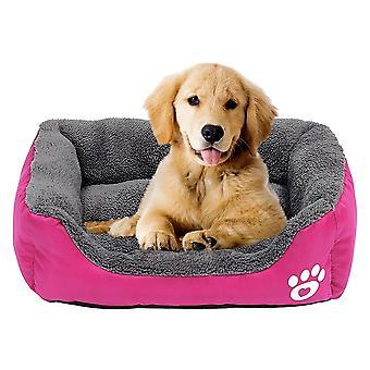 Hondenbed huis warme poot print puppy mat waterdichte huisdier bank