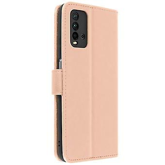 Back cover Xiaomi Redmi 9T Full Function Wallet rose gold