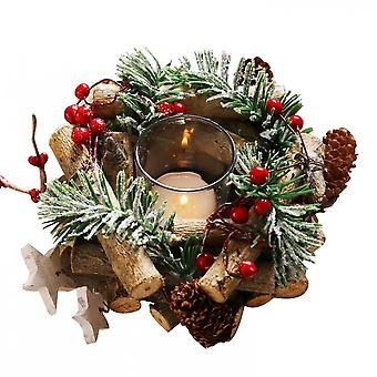 Christmas Tree Trunks And Round Glass Party Decoration