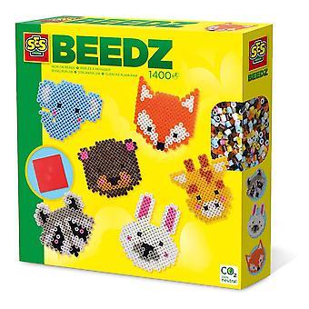 Beedz Children's Iron-on Beads Cute Animals Mosaic Kit, 1400 Iron-on Beads
