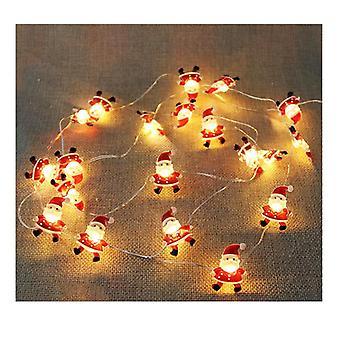 2M 20LED Weihnachtsmann LED Licht String Weihnachtsbeleuchtung Dekoration