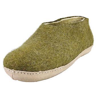 egos copenhagen Shoe Moss Green Unisex Slippers Shoes in Green