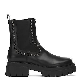Ash LENNY STUDS Boots Black Leather