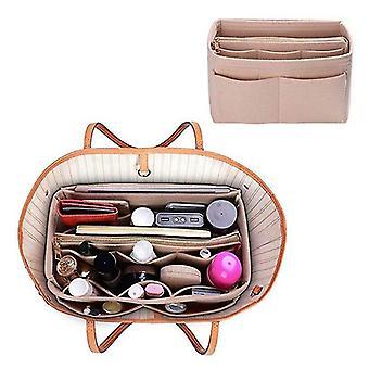 أكياس المراحيض التجميلية تشكل المنظم شعرت إدراج حقيبة لحقيبة يد السفر الداخلية محفظة أكياس التجميل المحمولة