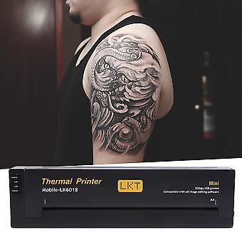 Kevyt Tattoo Draw Design Kopiokone Kannettava Tattoo Transfer Machine Musta