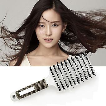 Vlasová pokožka hlavy Masáž hrebeň Štetina &nylon kefa na vlasy Mokrý kučeravý nástroj na úpravu vlasov