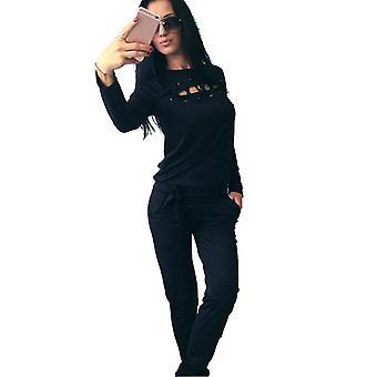 Damen Trainingsanzug Set Top Hose Loungewear Outwear Outwear