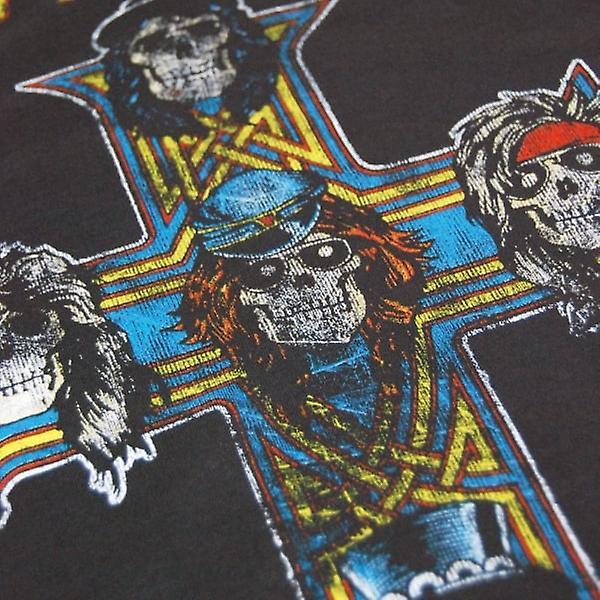 Mens amplificado Guns N' Roses apetite por destruição T camisa carvão