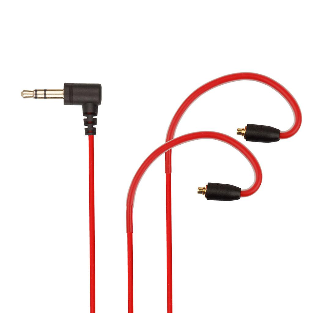 REYTID Replacement Red 5N Audio Cable Compatible with Shure SE215 SE425 SE535 SE846 SE315 Headphones - Compatible with iPhone and Android