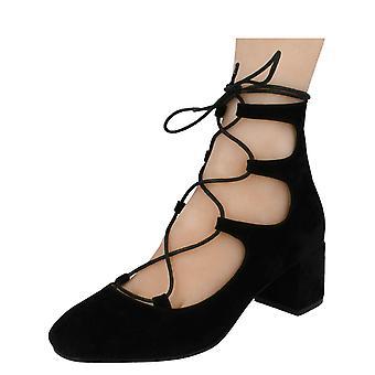 Damen-Spot auf stilvolle Block Heel Schuhe F9889