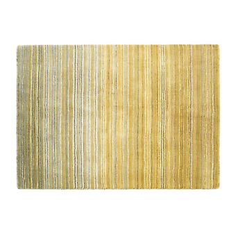 Fine Stripe Ochre Yellow  Rectangle Rugs Plain/Nearly Plain Rugs