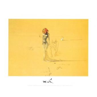 Female Figure with Head of Flowers c1937 - Salvador Dali Poster Poster Print