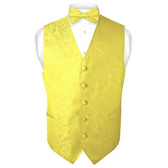 Miesten Paisley Design mekko liivi & rusetti BOWTie asetettu puku Tux