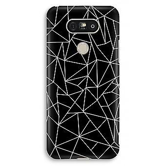 Volledige Print van LG G5 Case - geometrische lijnen wit