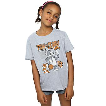 Tom And Jerry Girls Spinning Basketball T-Shirt