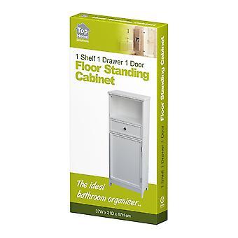 白い木製キャビネット主催者単位 1 引き出し食器棚ストレージ バスルーム ベッドルーム