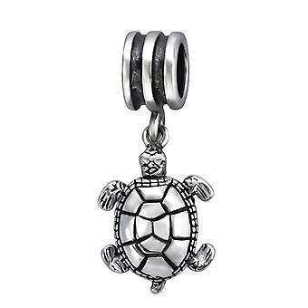 Turtle - 925 Sterling Silver Plain Beads - W28226X