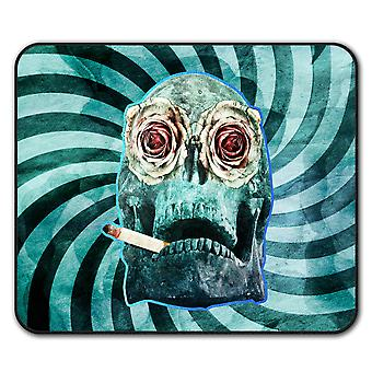 Smoking Death  Non-Slip Mouse Mat Pad 24cm x 20cm | Wellcoda