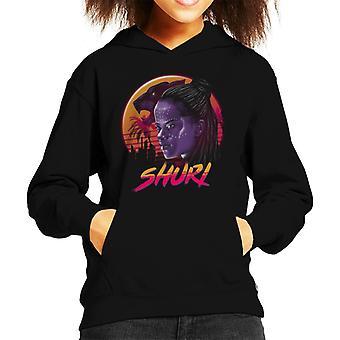 Marvel Black Panther Rad Shuri Retro 80s Kid's Hooded Sweatshirt