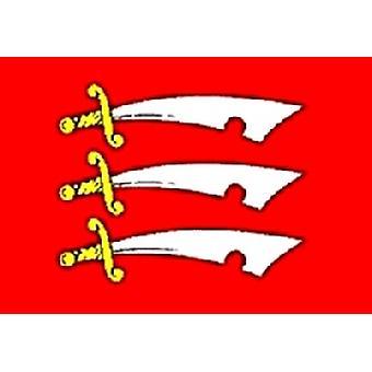 Essex vlag 5 ft x 3 ft met oogjes voor verkeerd-om