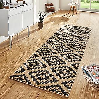 Design velour carpet runners bridge Nordic natural Brown