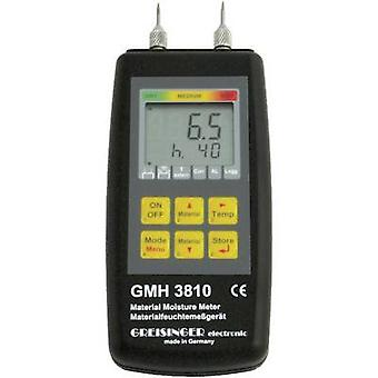 Greisinger GMH 3810 Moisture meter Building moisture reading range 4 up to 100 vol% Wood moisture reading range 4 up to 100 vol% Temperature reading