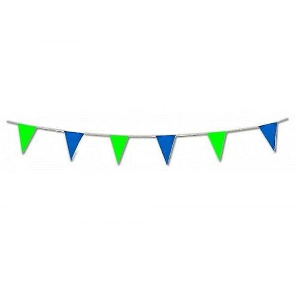 Union Jack Wear Green And Blue Pennant Bunting 17 Feet