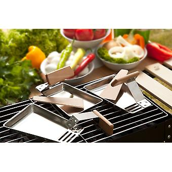 Grill Pan stainless steel Pan stainless steel Pan Grill Pans 2 he set wooden handle raclette