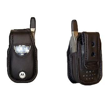 Caso de couro macio com Clip de cinto giratória AWedge (preto)
