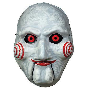 Billy the Puppet Jigsaw Killer Saw Horror Licensed Mens Costume Vacuform Mask