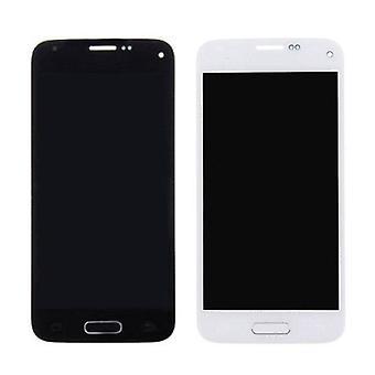 الاشياء المعتمدة® سامسونج غالاكسي S5 شاشة صغيرة (شاشة تعمل باللمس + AMOLED + أجزاء) AAA + الجودة - الأزرق / الأبيض