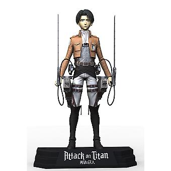 Attack on Titan action figure Levi Ackerman material: plastic, by McFarlane.