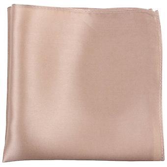 Knightsbridge neckwear finom selyem Pocket Square-bézs