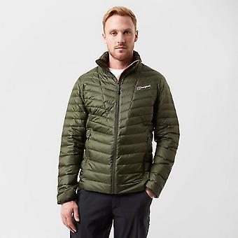 Nieuwe Berghaus mannen Finsler down lange mouw volledige zip jas donkergroen