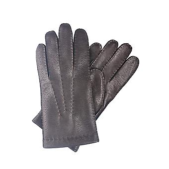 Phil Leather Gloves in Brown