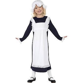 Costume victorien pauvre fille, petit 4-6 ans