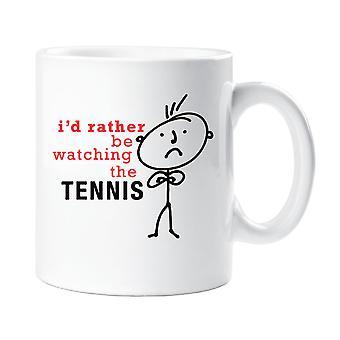 Mens I'd Rather Be Watching Tennis Mug