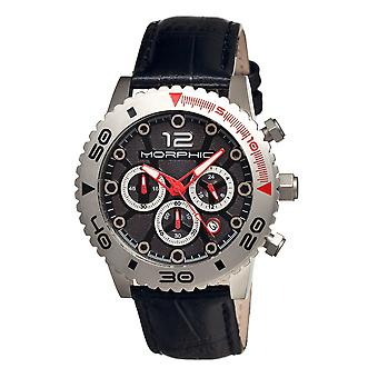 Morphic M33 Series Chronograph Men's Watch w/ Date - Silver/Black