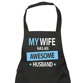 My Wife Has An Awesome Husband Black Apron