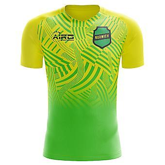 2020-2021 Norwich Home Concept Football Shirt - Womens