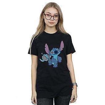 Disney Women's Lilo And Stitch Hypnotized Boyfriend Fit T-Shirt