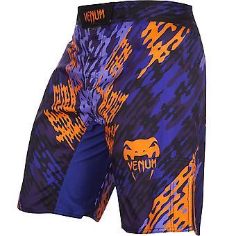 Shorts de combat de formation MMA Venum Mens Neo Camo - bleu/Orange/noir