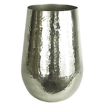 Tall Metal Silver Vase Planter Large 20 x 30cm